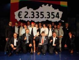 Teller 'Iedereen tegen kanker' staat al op 2,335 miljoen euro