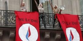 Femen verstoort toespraak Marine Le Pen