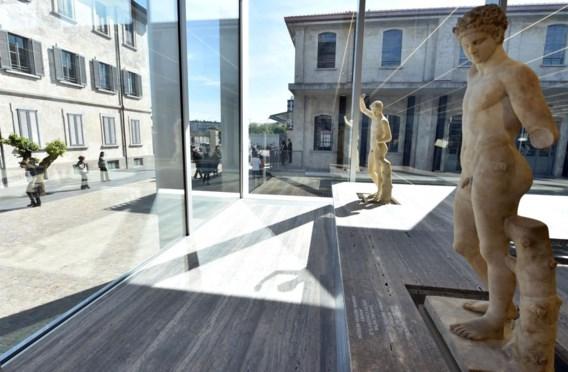 In het glaspaviljoen loopt de tentoonstelling 'Serial classic', over de relatie tussen origineel en kopie in de Romeinse cultuur.
