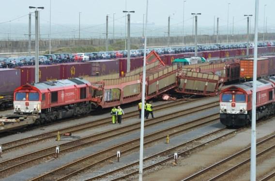 Botsing tussen goederentreinen in Zeebrugge
