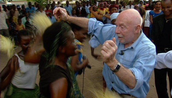 Jef Geeraerts terug in Congo, in 2010. 'Een voorliefde voor een Afrika bevolkt door natuurmensen, dat nooit heeft bestaan.