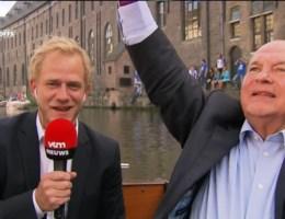 Spelers AA Gent varen Gentse binnenstad in