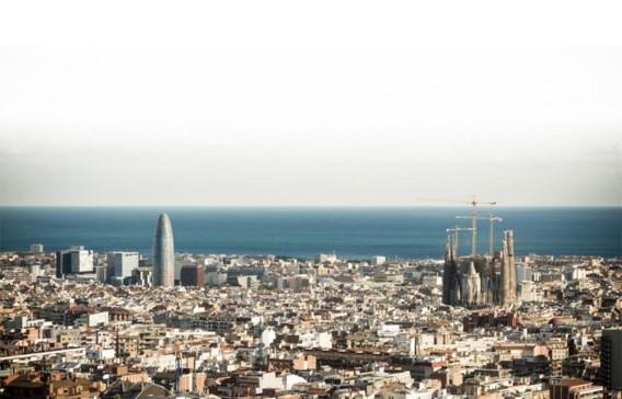 De skyline van Barcelona.