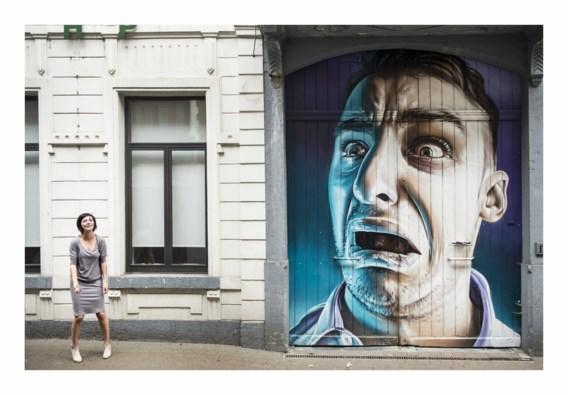 Ilse Liebens (bij graffiti van Smug): 'Met mijn vuist op de tafel slaan en mijn eisen stellen? Daar ben ik echt niet goed in.'