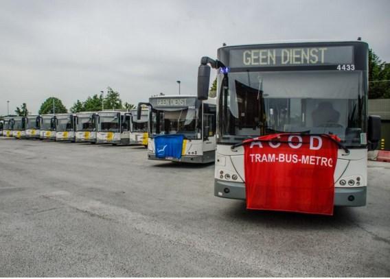 De staking bij De Lijn was minder voelbaar bij de schoolbussen dan bij de gewone lijnbussen.
