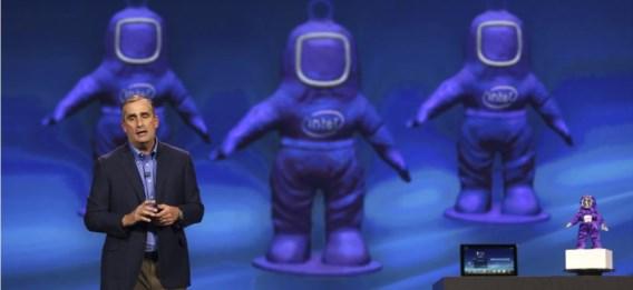 Intel-topman Brian Krzanich tijdens de Consumer Electronics Show in Las Vegas. Is de overnamegolf na de Intel-deal voorbij?