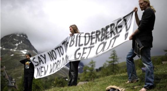 Links protest tegen de Bilderberg-conferentie in Sankt-Moritz, in 2011.