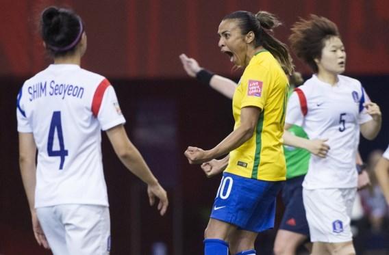 Historische goal op WK vrouwenvoetbal