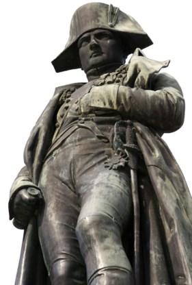 Een standbeeld van Napoleon in Ajaccio (Corsica).