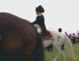 60.000 mensen zien Napoleon ten onder gaan