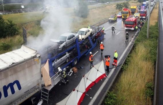 Een Roemeense trucker kwam om het leven toen hij inreed op een vrachtwagen die aan het aanschuiven was.