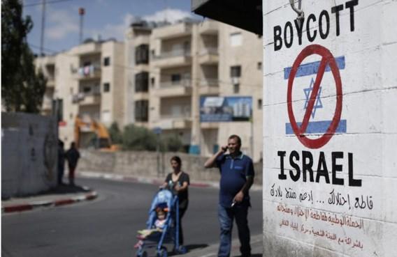 Een boycot-pamflet in Bethlehem, op de Westelijke Jordaanoever. Maar wie stuwt de BDS-beweging erachter?