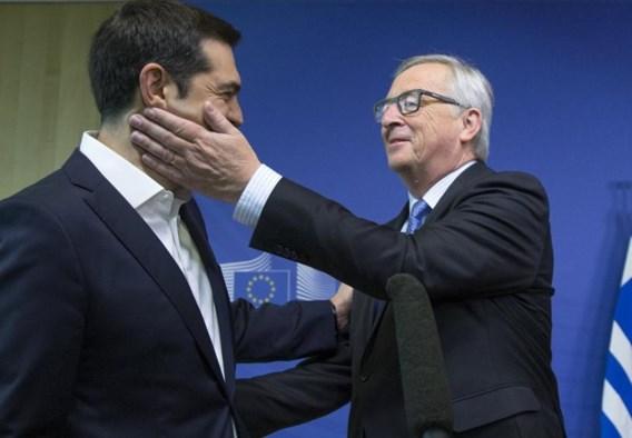 "<p>Tsipras was gisteren nog bij Juncker<span class=""credit"">reuters</span></p>"