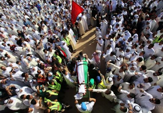 De slachtoffers van de aanslag in Koeweit werden zaterdag begraven.