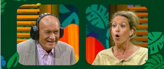 Jacques Vermeire probeert te raden dat Cath Luyten 'oranje' zegt – of zegt ze 'onnozel'?