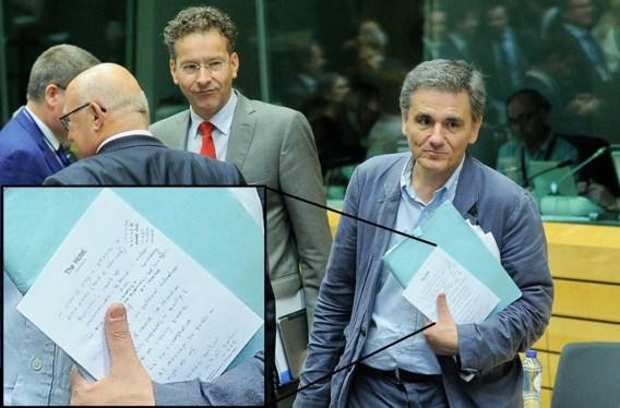 Nota Griekse minister van Financiën lekt uit door fotograaf