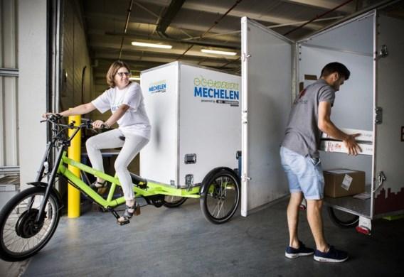 De alternatieve koerierdienst Bubble Post is intussen al in negen Vlaamse steden actief, waaronder Mechelen, waar hij samenwerkt met Ecokoeriers.
