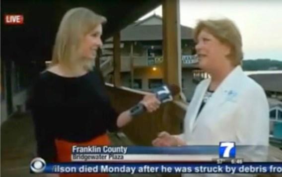Parker werd neergeschoten toen ze een live-interview afnam.