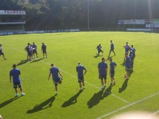 Bosniërs trainen al eerste keer op Belgische bodem