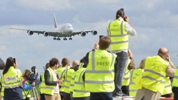 Grootste passagiersvliegtuig ter wereld landt in Zaventem