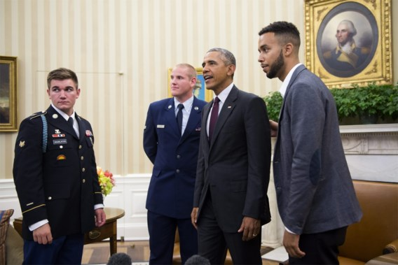 Obama ontvangt drie 'Thalys-helden' op het Witte Huis