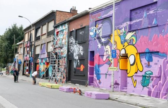 De graffiti geven Berchem een jong gezicht, zegt districtsburgemeester Evi Van der Planken (foto: de Vlijtstraat).