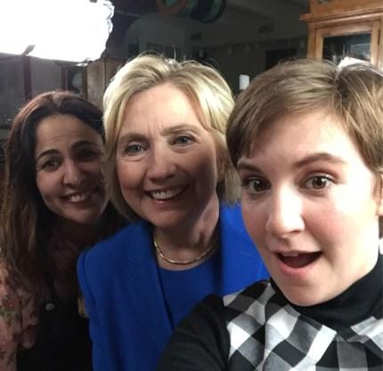 Jenni Konner, Hillary Clinton en Lena Dunham: allemaal 'Lenny'.