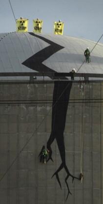 Greenpeace voerde al in 2005 actie tegen de onveiligheid van de centrale van Tihange.