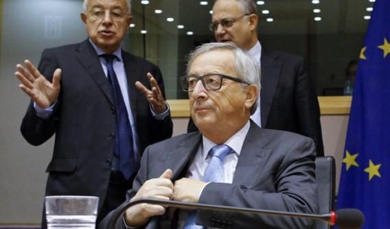 Jean-Claude Juncker bij zijn ondervraging in de LuxLeaks-commissie.