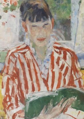 Rik Wouters, 'Lezende vrouw', te zien in Den Haag.