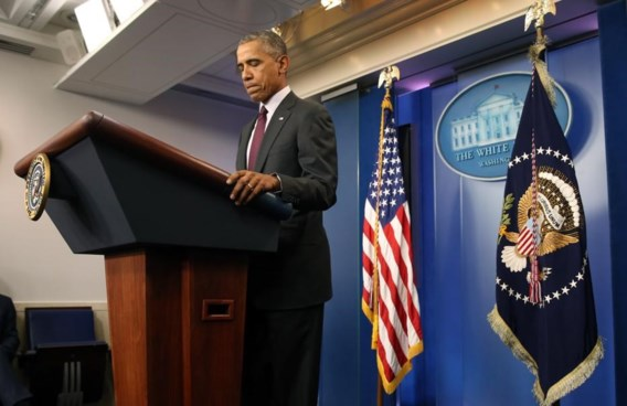 "<p>Barack Obama was opvallend boos en gefrustreerd gisteren.<span class=""credit"">ap</span></p>"