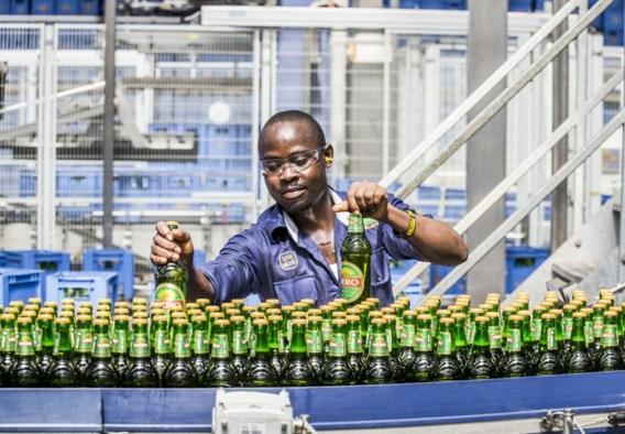 SABMiller-bier op de lopende band in Afrika.