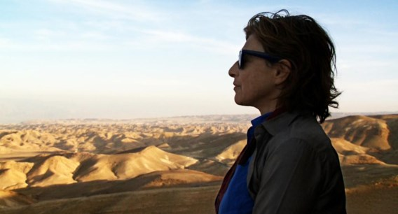 Chantal Akerman zoals ze te zien is in de documentaire 'I don't belong anywhere'.