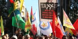 400 Koerden betogen in Brussel tegen Erdogan