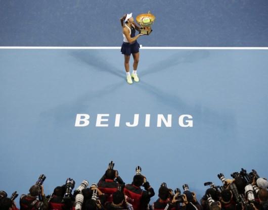 Garbine Muguruza verovert titel in Peking