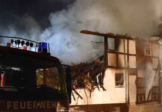 Twaalf gewonden bij brand in huis met migranten