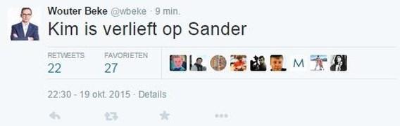 Wouter Beke voert bijzondere campagne op Twitter
