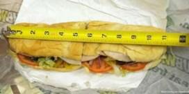 Subway moet langere broodjes maken van rechter