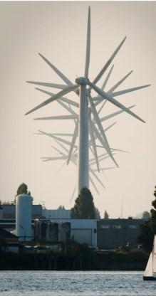 Windmolens zullen tegen 2030 fors in prijs dalen, terwijl hun vermogen zal toenemen.