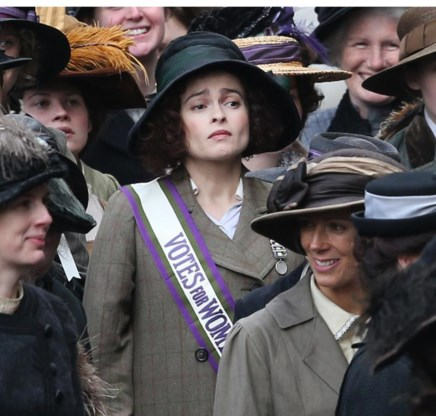 Helena Bonham Carter speelt een van de suffragettes.