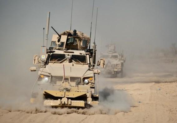 Een Amerikaanse truck nabij Kandahar, Afghanistan (2010).