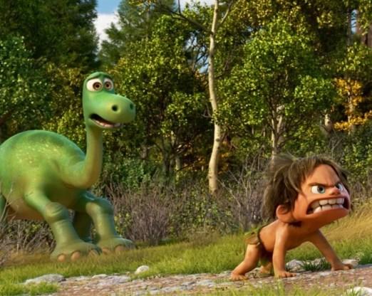 Arlo de Dino en Spot het jongetje.