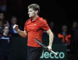 Goffin draait knotsgekke openingsmatch in finale Davis Cup nog helemaal om
