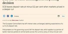 Financial Times blundert met foute tweet en artikel over rentebesluit