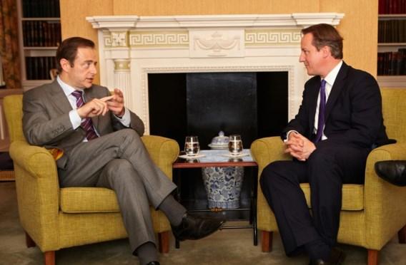 Op bezoek in Downing Street 10 in 2012, niet voor het eerst en niet voor het laatst.