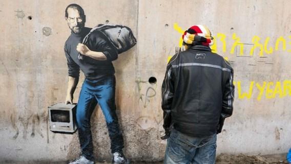 Banksy: 'Apple bestaat alleen dankzij de zoon van een Syrische migrant'