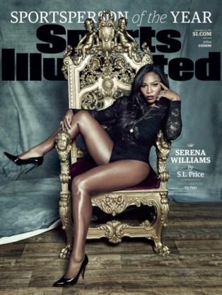 Sports Illustrated zet Serena Williams letterlijk en figuurlijk op gouden troon