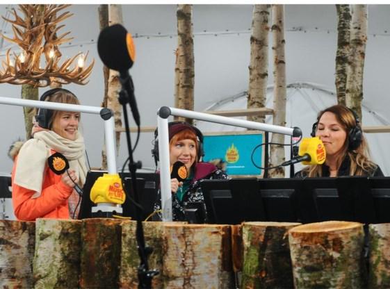 Eva De Roo, Linde Merckpoel en Siska Schoeters trapten gisteren 'De warmste week' van Studio Brussel af.