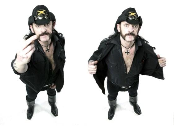 Lemmy in augustus 2005, tijdens een shoot voor het magazine  'Metal Hammer'.