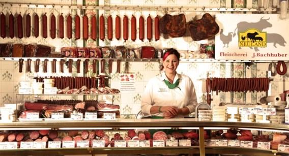 Duitsland is meer dan worst alleen, maar het is óók worst. Op de foto: een slagerij in Wilmersdorf, Berlijn.